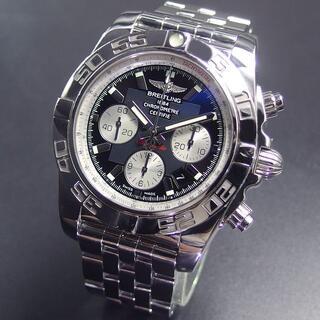 ブライトリング(BREITLING)の美品 国内正規品 ブライトリング クロノマット 44 ブラック文字盤 AB011(腕時計(アナログ))