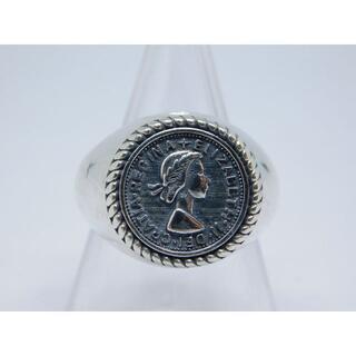 12号 エリザベス コイン リング フリーサイズ アンティーク(リング(指輪))