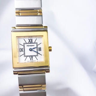 Saint Laurent - 【仕上済】YSL サンローラン スクエア コンビ ブレス レディース 腕時計