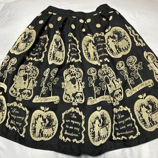 エミリーテンプルキュート(Emily Temple cute)のエミリー イストワール柄スカート(ひざ丈スカート)