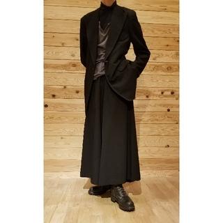 Yohji Yamamoto - Y's for men 白ステッチ 反転ロゴ刺繍 ウールギャバジャケット