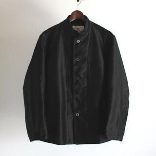 COMOLI - OUTIL VESTE GABARRET モールスキン スタンドカラージャケット