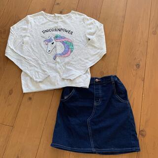 エイチアンドエム(H&M)の女の子 140 GU H&M(スカート)