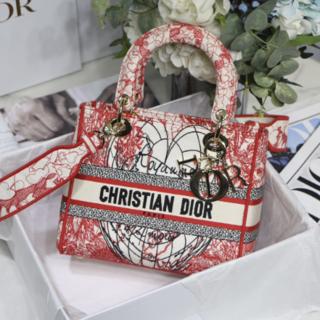 Christian Dior - 【超美品】人気商品早い物勝ちLADY D-LITE ミディアムバッグ