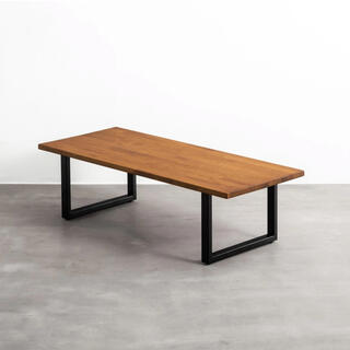 カナデモノ ローテーブル ラバーウッド T × Black Steel(ローテーブル)
