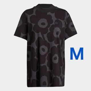 adidas - 【M】アディダス マリメッコ 総柄フラワープリント ルーズTシャツウニッコ