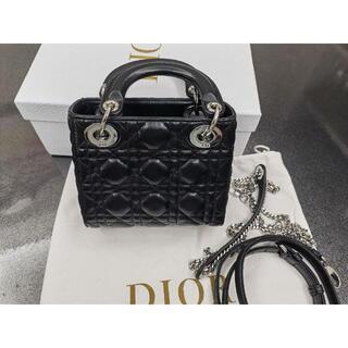 Christian Dior - Dior レディディオール ハンドバッグMINI シルバー金具