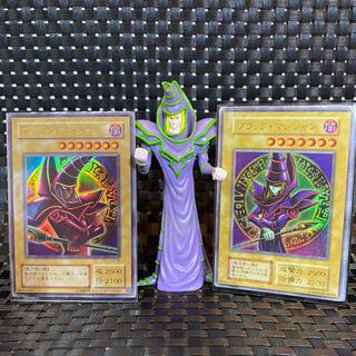 コナミ(KONAMI)の遊戯王 旧カード 7枚 【ブラックマジシャン フィギュア】のオマケ付き(その他)