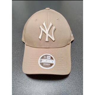 ニューエラー(NEW ERA)の【海外限定】日本未発売 ニューエラ 帽子 キャップ NY ヤンキース ベージュ(キャップ)