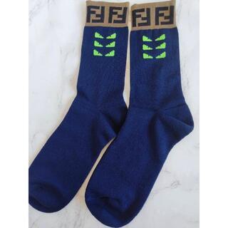 【希少】FENDI ソックス 靴下 フェンディ モンスター ネイビー メンズ