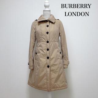 バーバリー(BURBERRY)のBURBERRY LONDON 中綿ポリエステル ロングコート 裏地チェック(ロングコート)