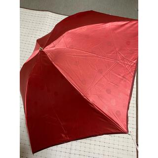 ランバンコレクション(LANVIN COLLECTION)の新品未使用 ランバンパラソル折り畳みコンパクト えんじ色(傘)
