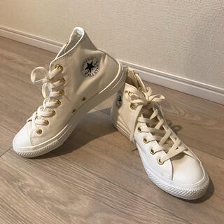 CONVERSE - 【新品】コンバース オールスターGOLDジップHIアイボリー23cm