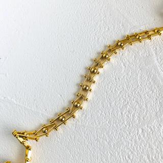 Ameri VINTAGE - ゴールド かわいい ヴィンテージ チョーカー ネックレス