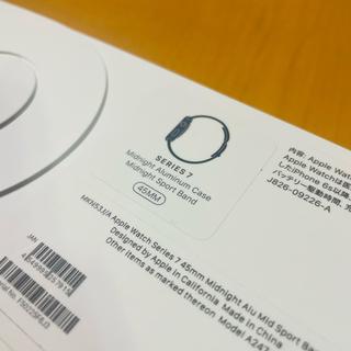 【新品】Apple Watch Series7 45mmミッドナイトアルミニウム
