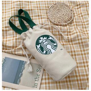 スターバックスコーヒー(Starbucks Coffee)の【スターバックス海外限定】日本未発売 ドリンクバック  小物入れ ホワイト 一点(トートバッグ)