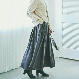 23区 - 【今期・完売】23区 S☆ ナイロンタスラン ギャザー マキシ スカート/34