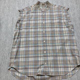 Ron Herman - 19SS Auralee スーパーライトウールチェックスリーブレスシャツ