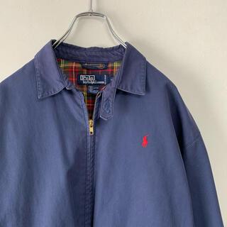 ラルフローレン(Ralph Lauren)の古着 90s POLO Ralph Lauren  スウィングトップ ネイビー(ブルゾン)