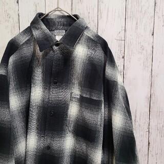 カルトップ(CALTOP)の【大きめ】caltopキャルトップ ネルシャツ black charcoal(シャツ)