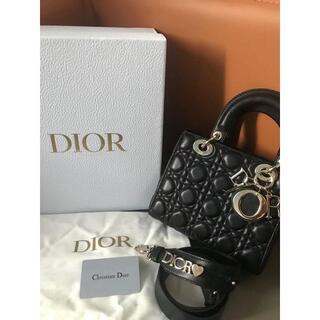 Dior - DIOR レディディオール 黒 ラムスキン バッグ レディース