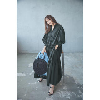 セオリー(theory)のTheory luxe 21ss ロングドレス ブラック(ロングワンピース/マキシワンピース)