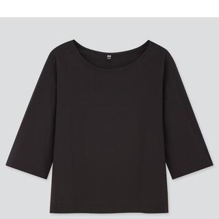 UNIQLO - UNIQLO 5部丈 マーセライズコットンTシャツ