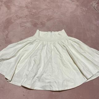 ローリーズファーム(LOWRYS FARM)のスカート ホワイト(ひざ丈スカート)