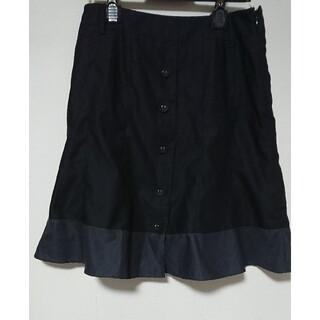 シーディーエスベーシック(C.D.S BASIC)のcdsbasic シーディーエスベーシック 秋 スカート 黒 70 LL XL(ひざ丈スカート)