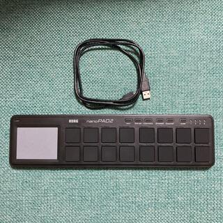 KORG 定番 USB MIDIコントローラー nanoPAD2 BK(MIDIコントローラー)