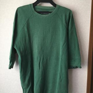 デラックス(DELUXE)のDELUXEのグリーン七分タイプ(Tシャツ/カットソー(七分/長袖))