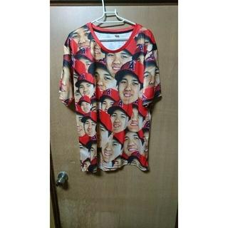 大谷翔平 顔だらけTシャツ XL