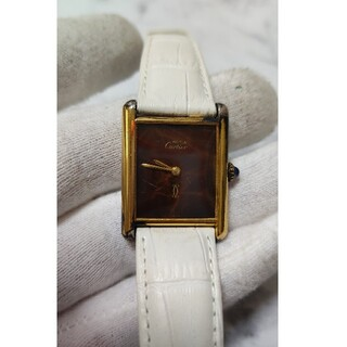 Cartier - CARTIER カルティエ マスト 時計 マーブル 手巻き レディース 現状品