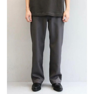 1LDK SELECT - 【最安値】order loose twill pants グレー Sサイズ 美品