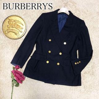 バーバリー(BURBERRY)の最高級バーバリープローサム♡ダブルブレスト ジャケット 紺ブレ 金ボタン 6B(テーラードジャケット)