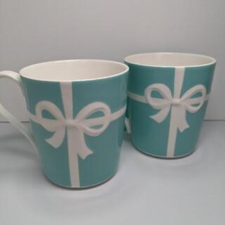 Tiffany & Co. - ティファニー ブルーリボン マグカップ 2個 新品