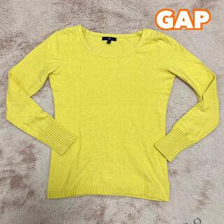ギャップ(GAP)のGAPギャップ カラーニット 黄色イエロー 薄ニット きれいめ(ニット/セーター)