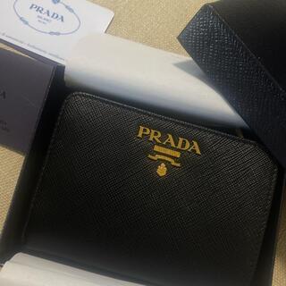 PRADA - PRADA プラダ サフィアーノレザー 財布 折財布 ウォレット ブラック