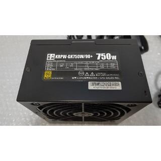 美品 玄人志向 750W ATX電源ユニット KRPW-GK750W/90+