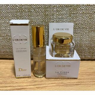 ディオール(Dior)のDior オー・ド・ヴィ ローション& オー・ド・ヴィラクレーム サンプルセット(サンプル/トライアルキット)