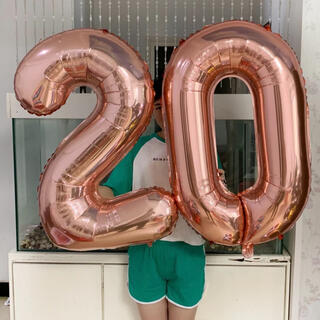 数字 バルーン 2文字セット 32インチ 誕生日 ナンバー 風船 サプライズ