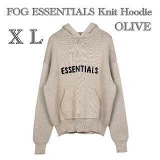 FEAR OF GOD - FOG ESSENTIALS Knit Hoodie パーカー オーバーサイズ