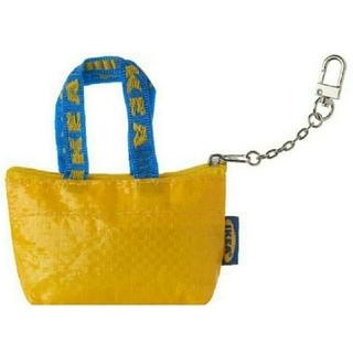IKEA - イケア【新品】IKEA クノーリグ 黄色 キーホルダー付き エコバッグ♪ポーチ