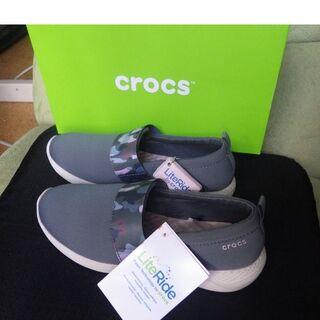 crocs - クロックス スリッポン軽量 24㎝ w8 スニーカー