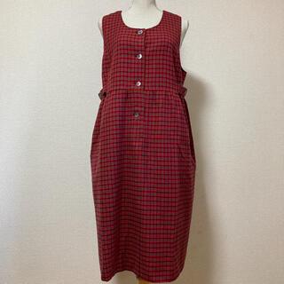 familiar - 美品 ファミリア  ワンピース ジャンパースカート