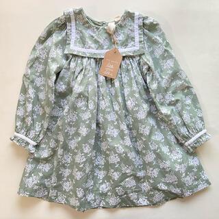 キャラメルベビー&チャイルド(Caramel baby&child )の新品タグ付き littlecottonclothes ワンピース ドレス 花柄(ワンピース)