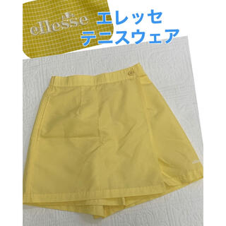 ellesse - ☆美品☆ エレッセ テニスウェア Lサイズ キュロット スコート 黄色