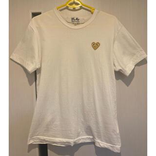 COMME des GARCONS - Mサイズ  プレイコムデギャルソン ゴールド Tシャツ ホワイト