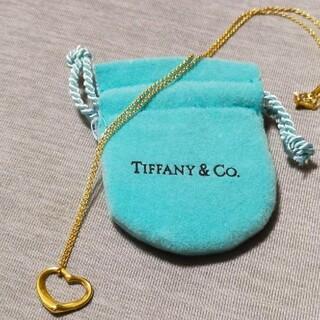 Tiffany & Co. - ティファニー オープンハート ネックレス 18k