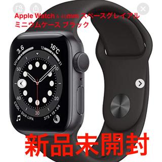 Apple Watch - Apple Watch 6 40mm スペースグレイアルミニウムケース ブラック